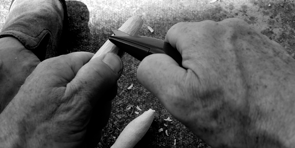 whittling hands