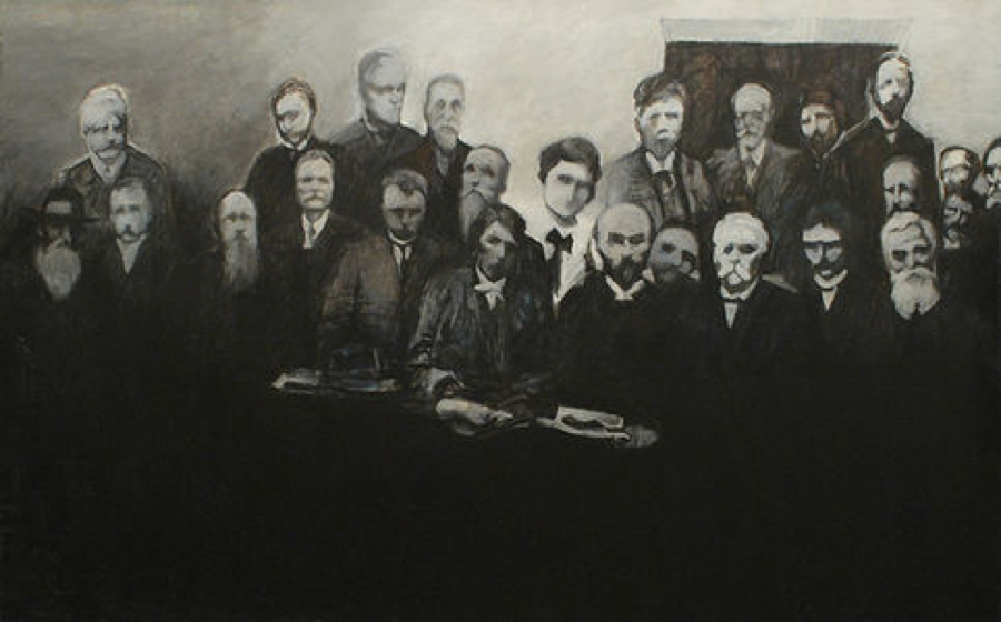 Rosa Luxemburg Attends the Second International, 1987