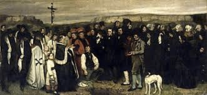 Courbet, A Burial at Ornans, 1849-1850.